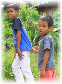 Two Filipino village boys